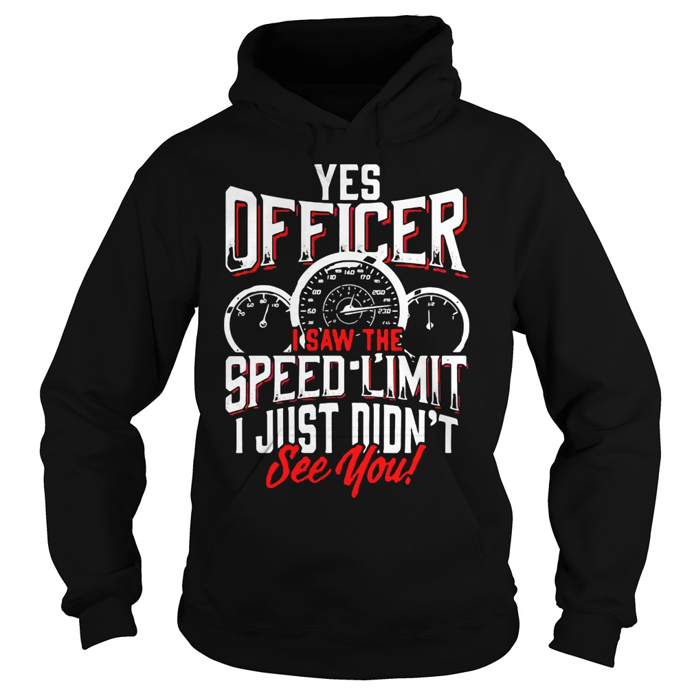 Yes Officer I Saw The Speed Limit I Just Didn't See You Hoodie