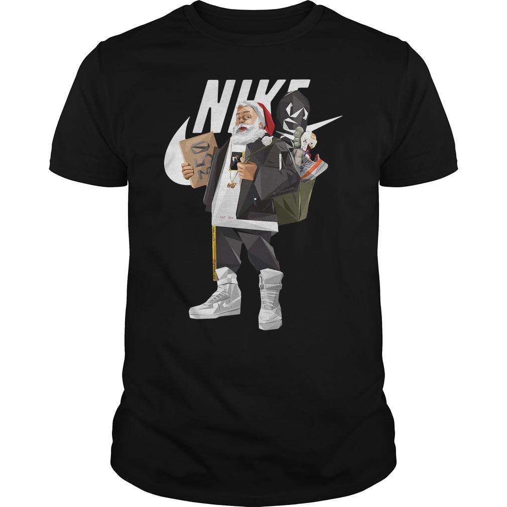 Santa Claus Nike Hiphop Shirt