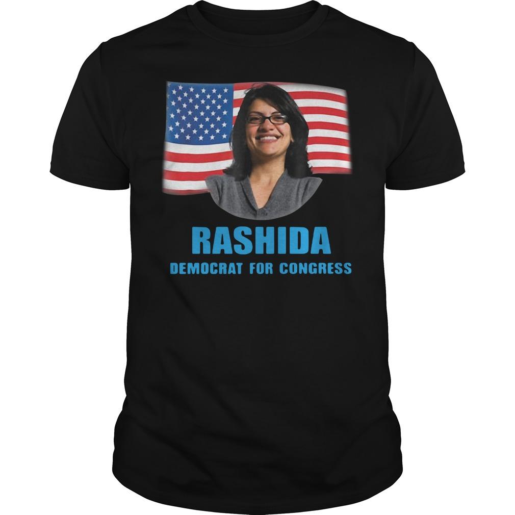 American Rashida Democrat For Congress Guys Shirt