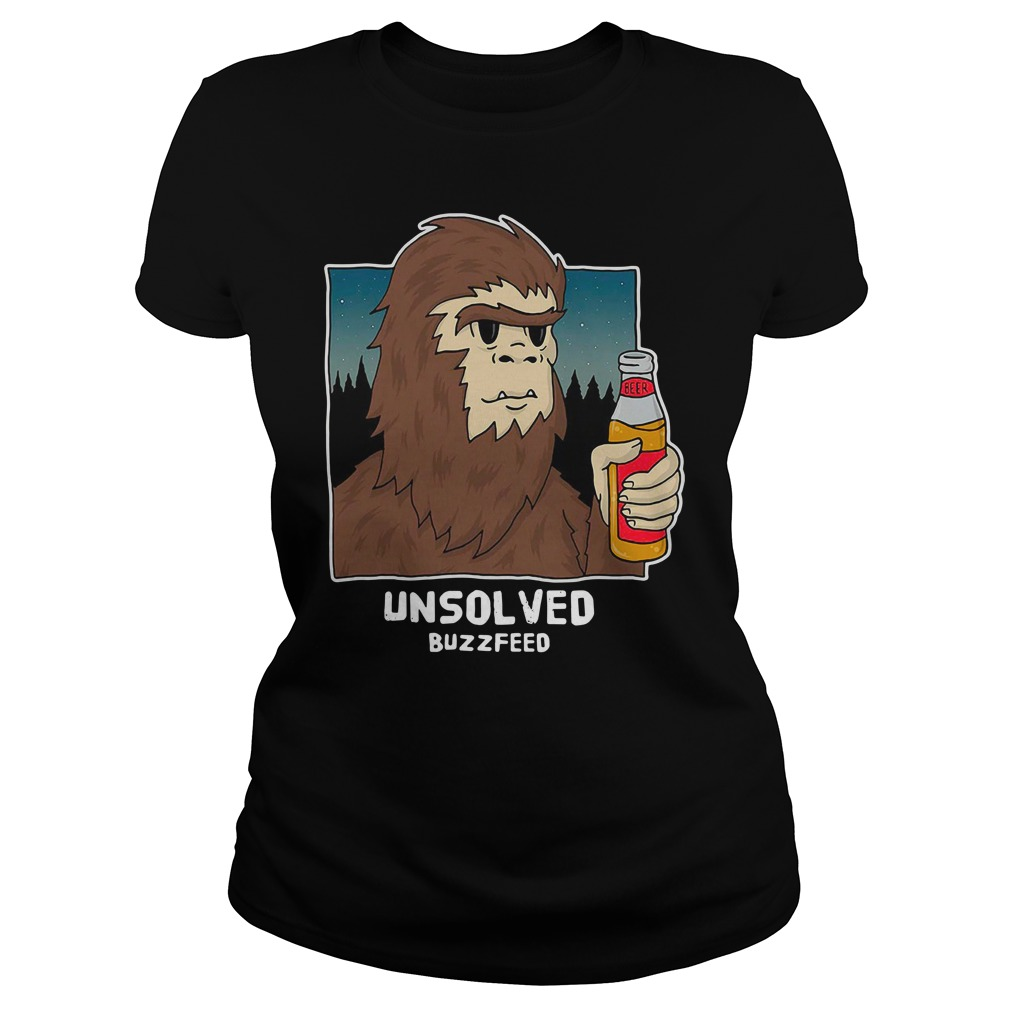 Buzzfeed Unsolved Bigfoot Ladies Shirt
