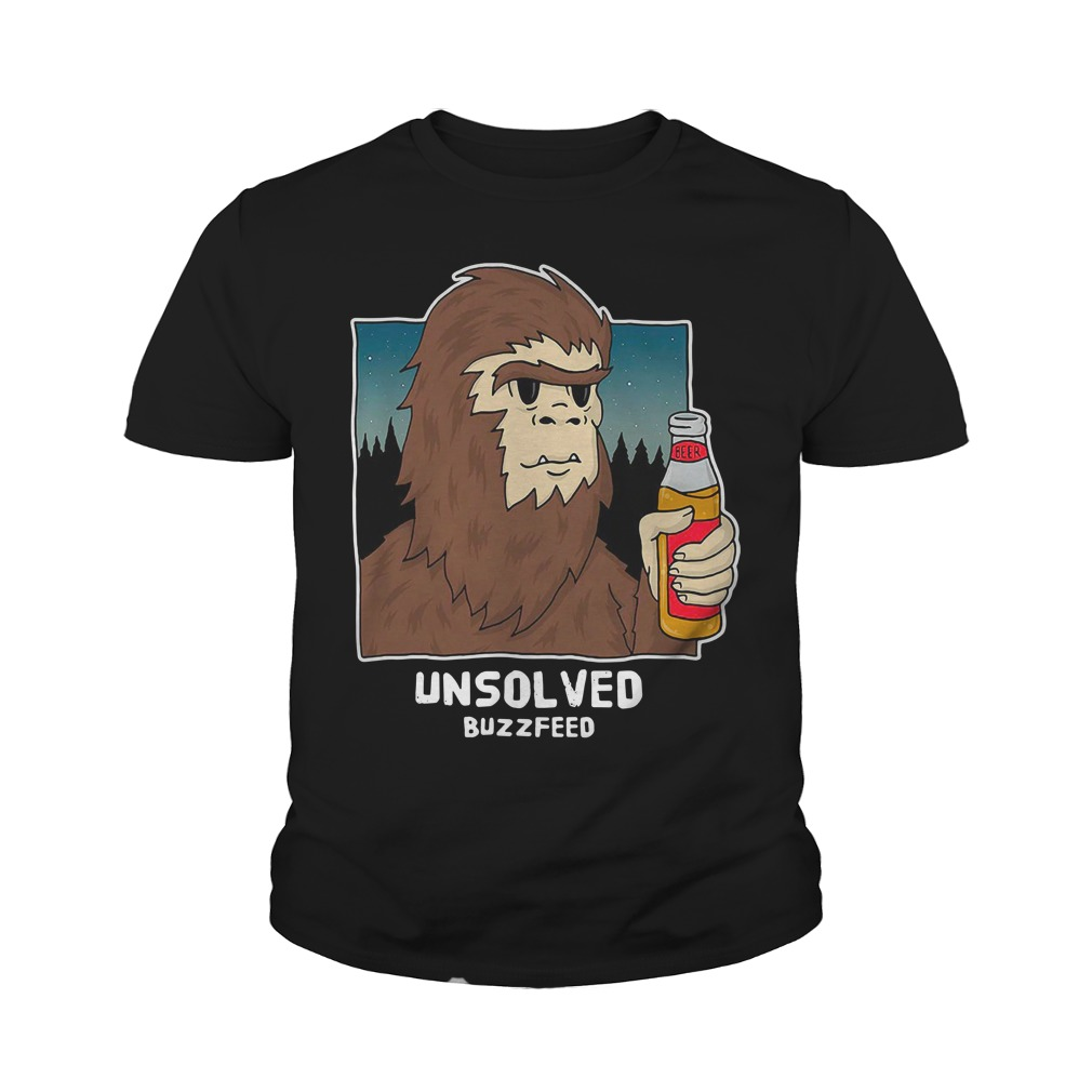 Buzzfeed Unsolved Bigfoot Youth Shirt