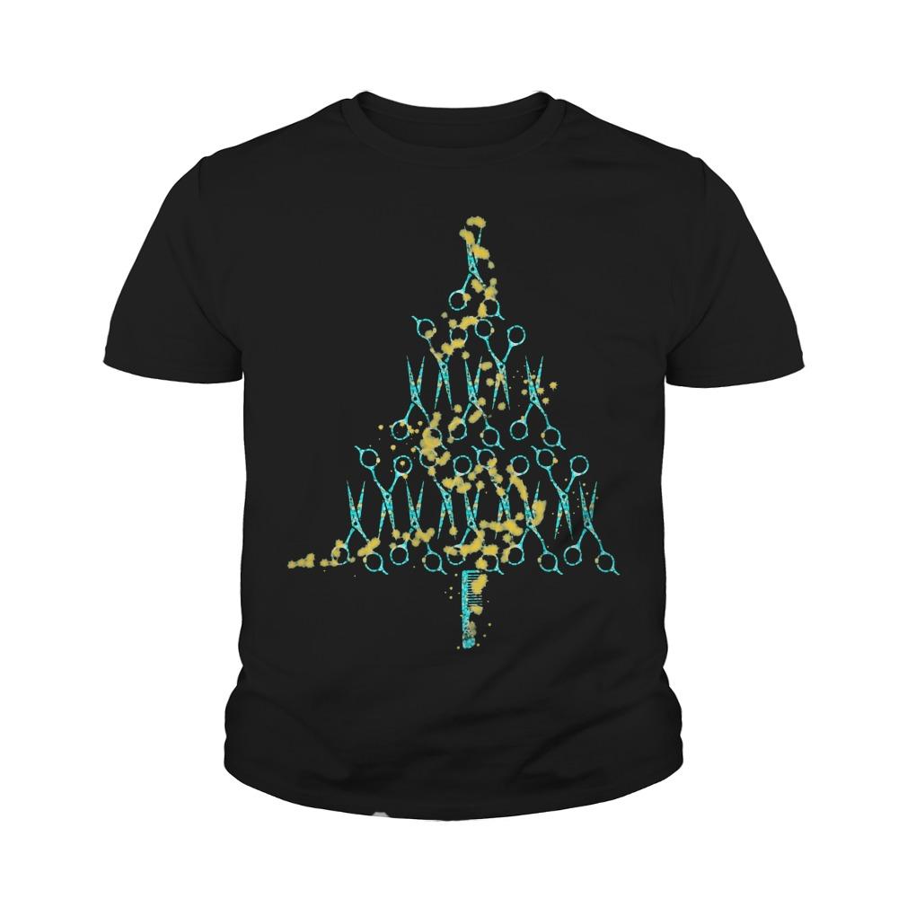 Christmas Tree Lights Drag Hairbrush Youth Shirt
