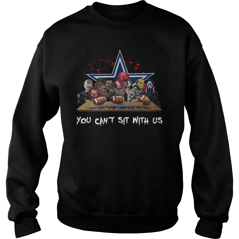 Dallas Cowboys Horror Movies Characters You Can't Sit With Us Sweater