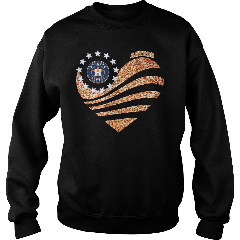 Houston Astros Heart Diamond Sweatshirt