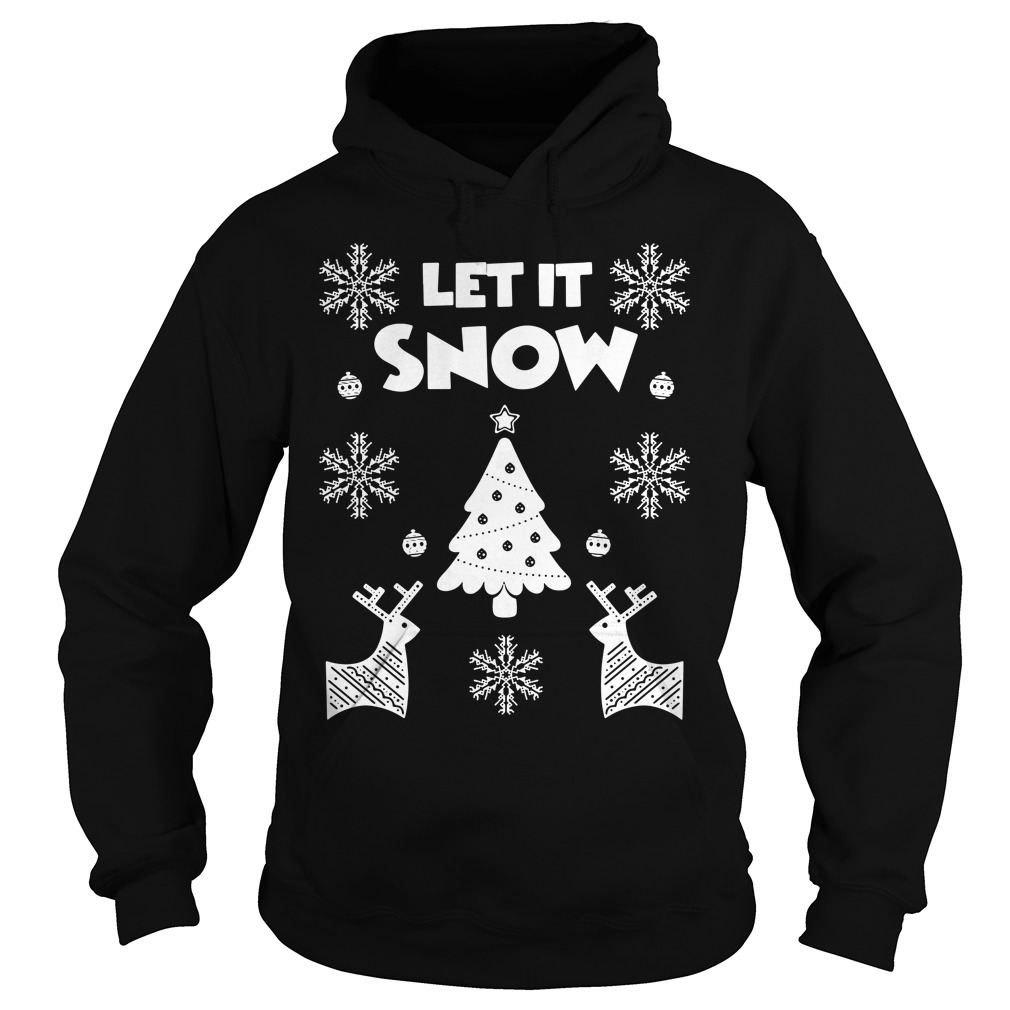 Let It Snow Christmas Ugly Hoodie