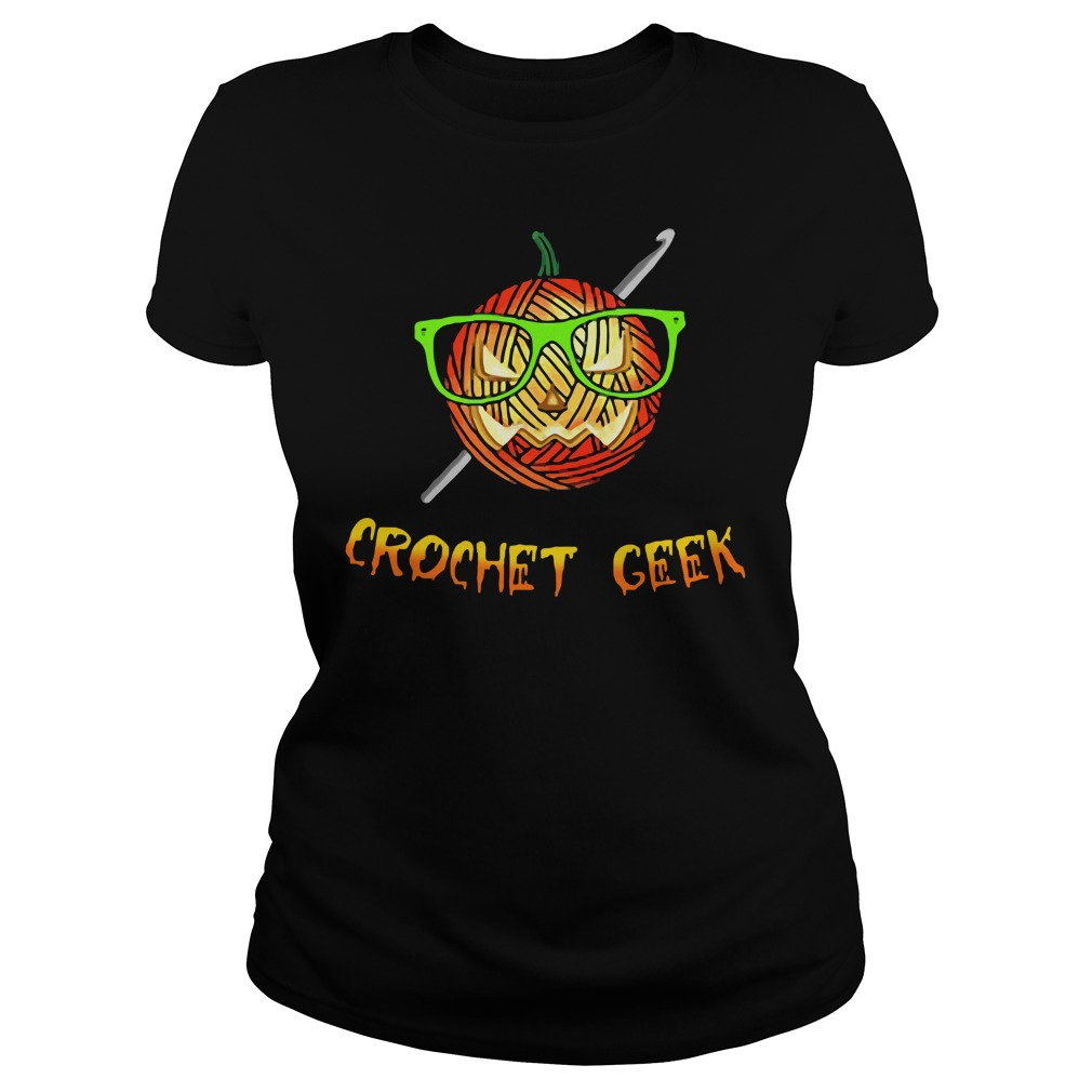 Official Crochet Geek Black Ladies Shirt