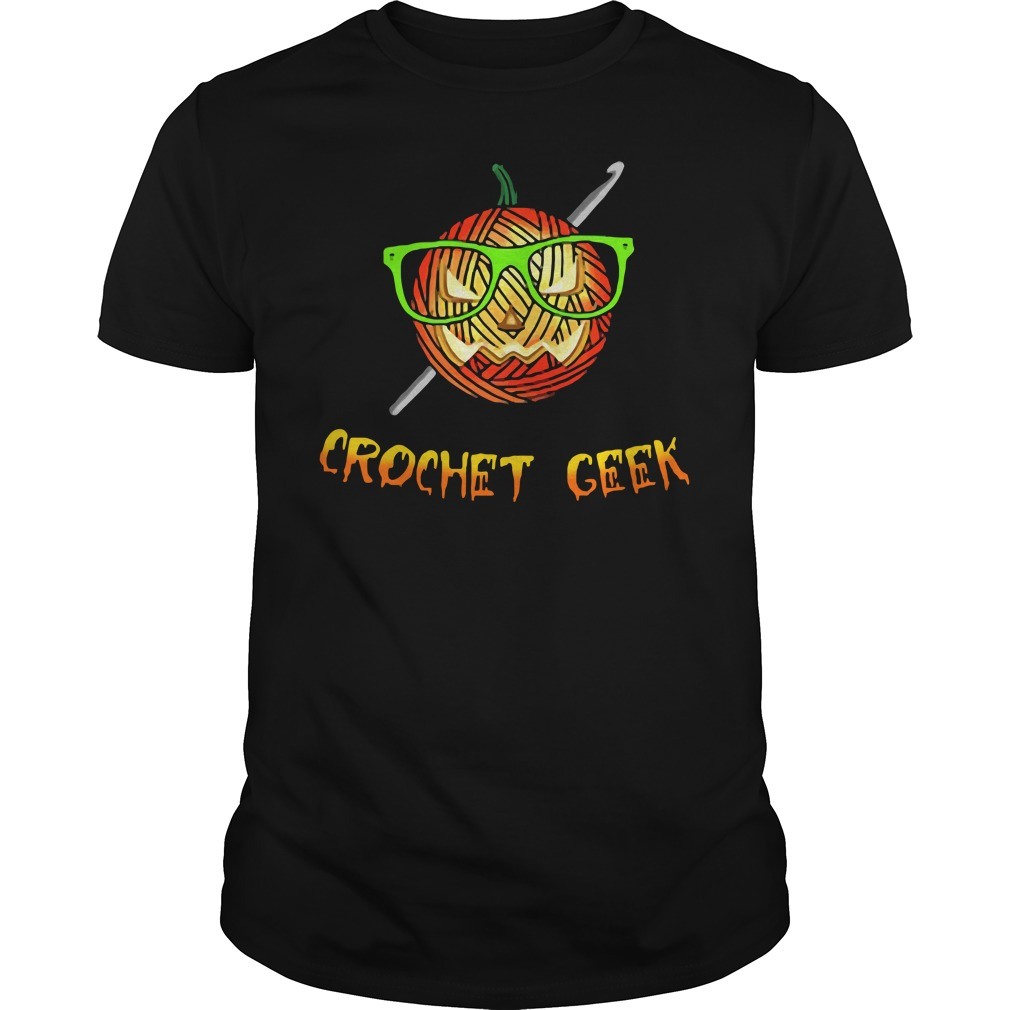 Official Crochet Geek Black Guys Shirt
