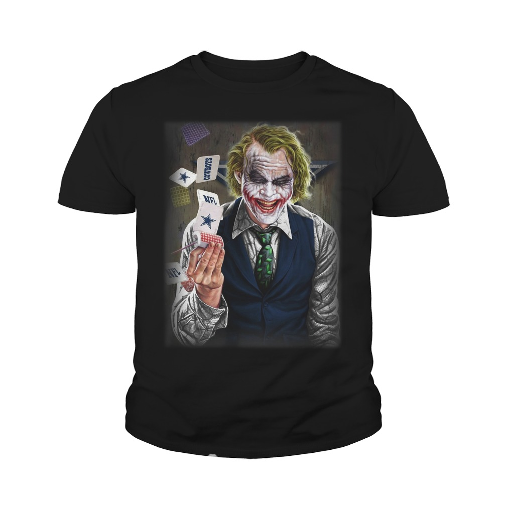 Official Dallas Cowboys Joker Poker Youth Shirt