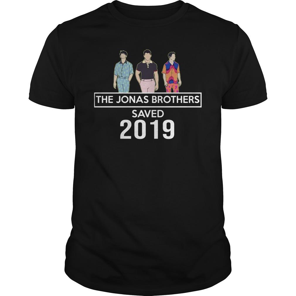 Official The Jonas Brothers Saved 2019 Guys Shirt