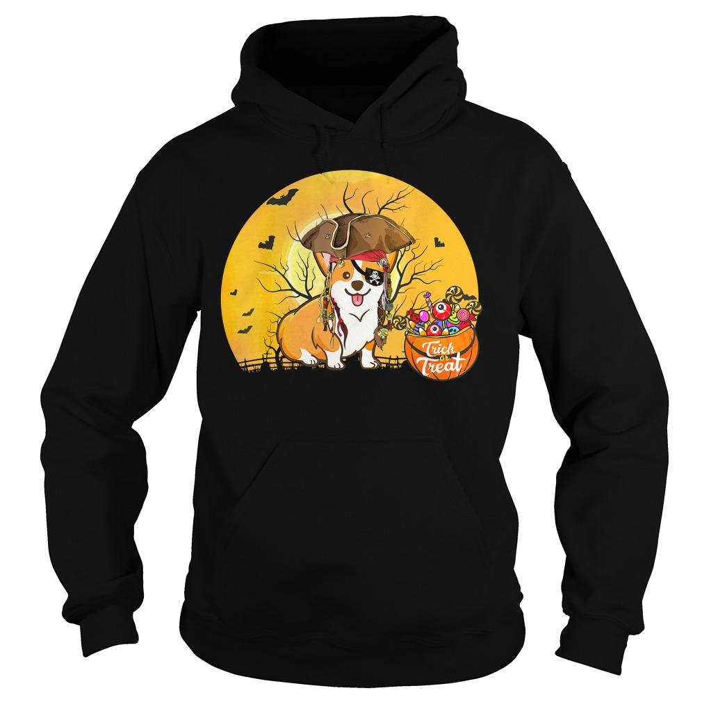 Premium Pirate Corgi Halloween Costume Hoodie