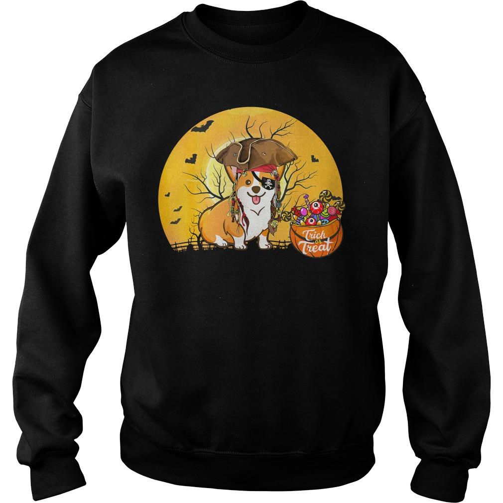 Premium Pirate Corgi Halloween Costume Sweater