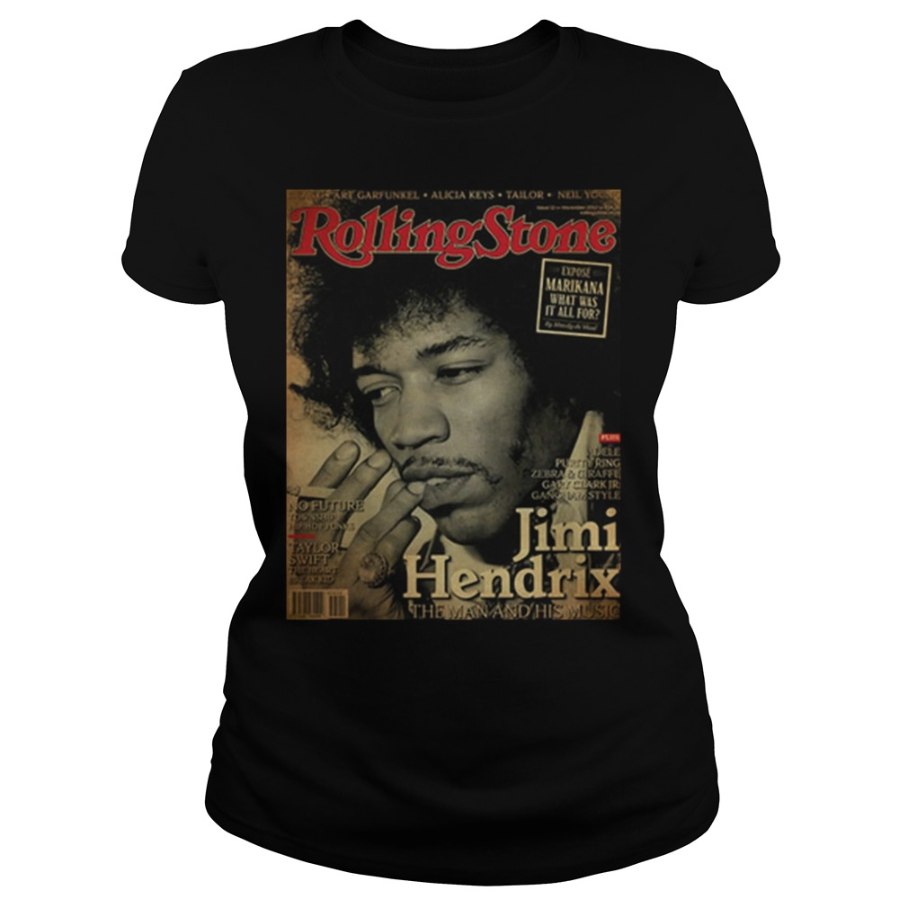 Rolling Stone Jimi Hendrix The Man And His Music Poster Ladies Shirt