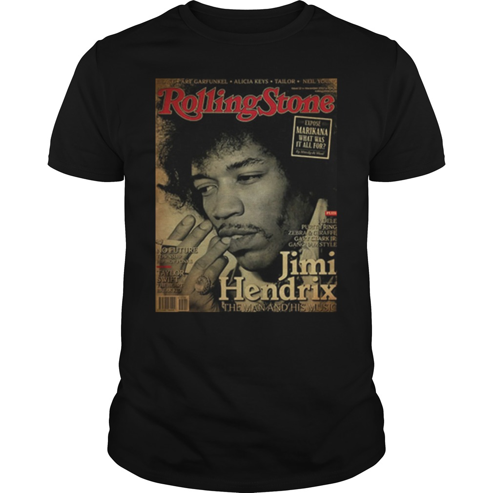 Rolling Stone Jimi Hendrix The Man And His Music Poster Guys Shirt
