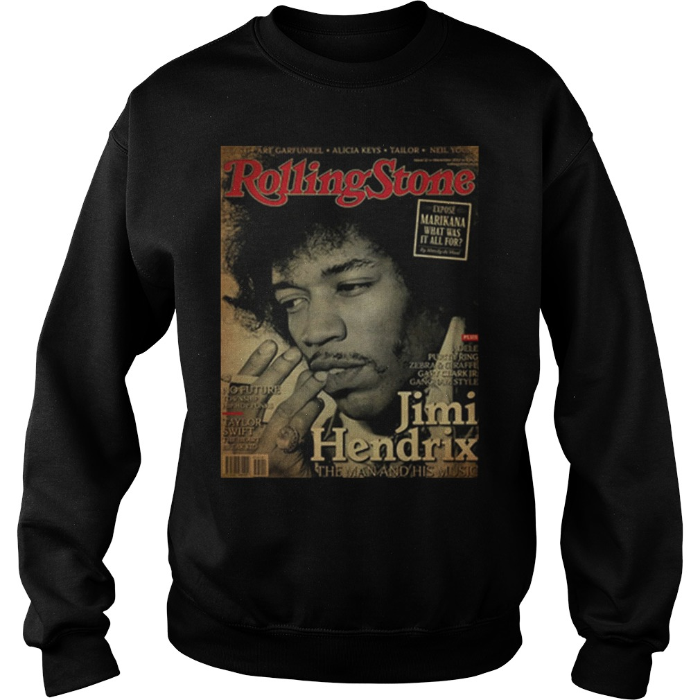 Rolling Stone Jimi Hendrix The Man And His Music Poster Sweater