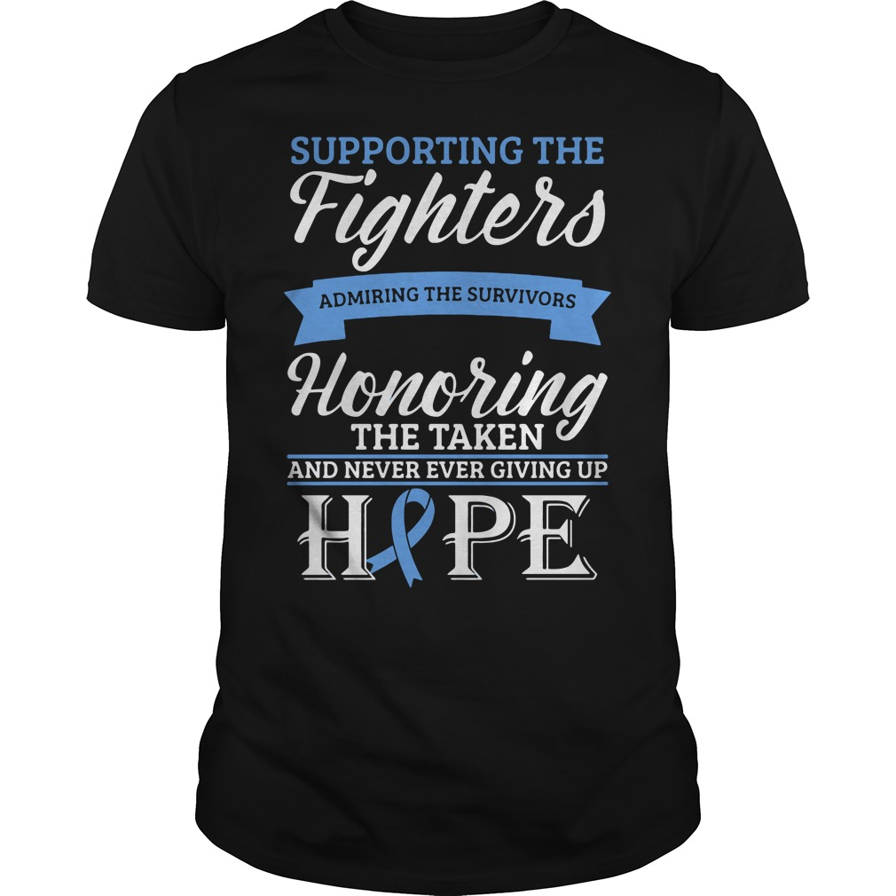 Supporting Light Blue Fighter Admiring The Survivors Honoring Guys Shirt