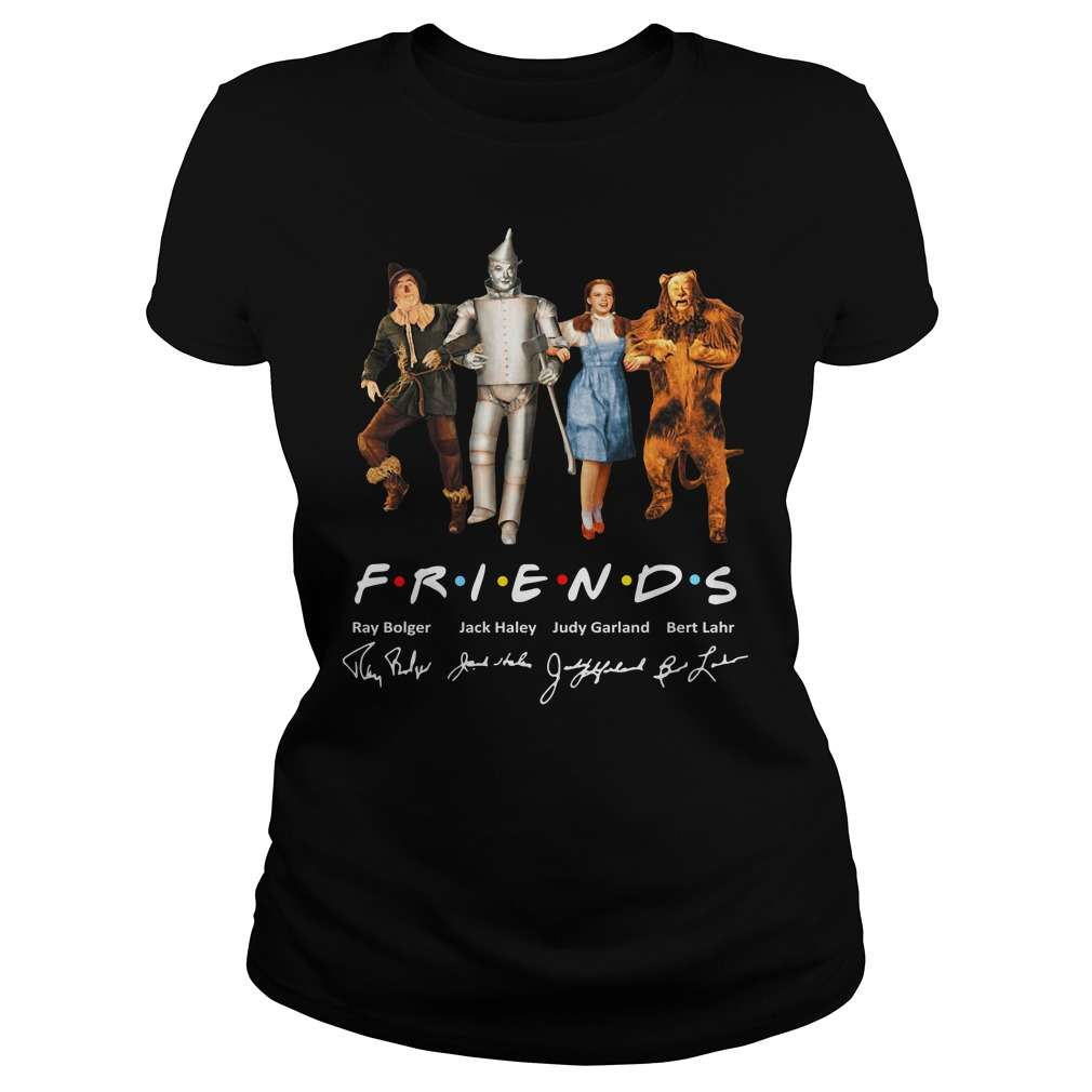 The Wizard Of Oz Friends Signature Ladies Shirt