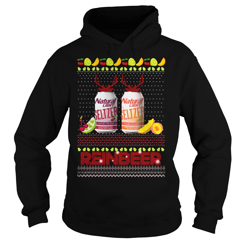Christmas Natural Light Seltzer Catalina Lime Mixer Shirt hoodie
