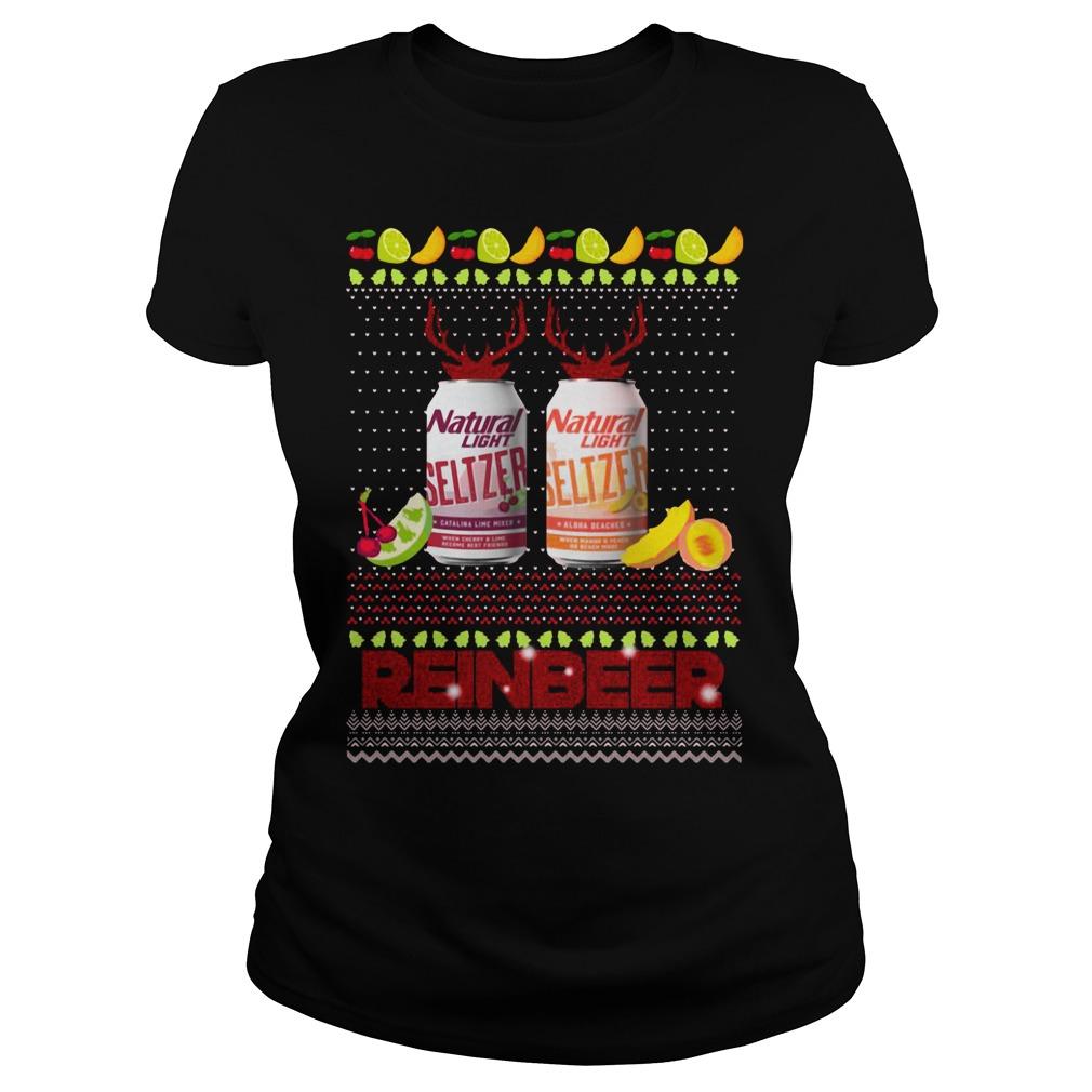 Christmas Natural Light Seltzer Catalina Lime Mixer Shirt ladies tee