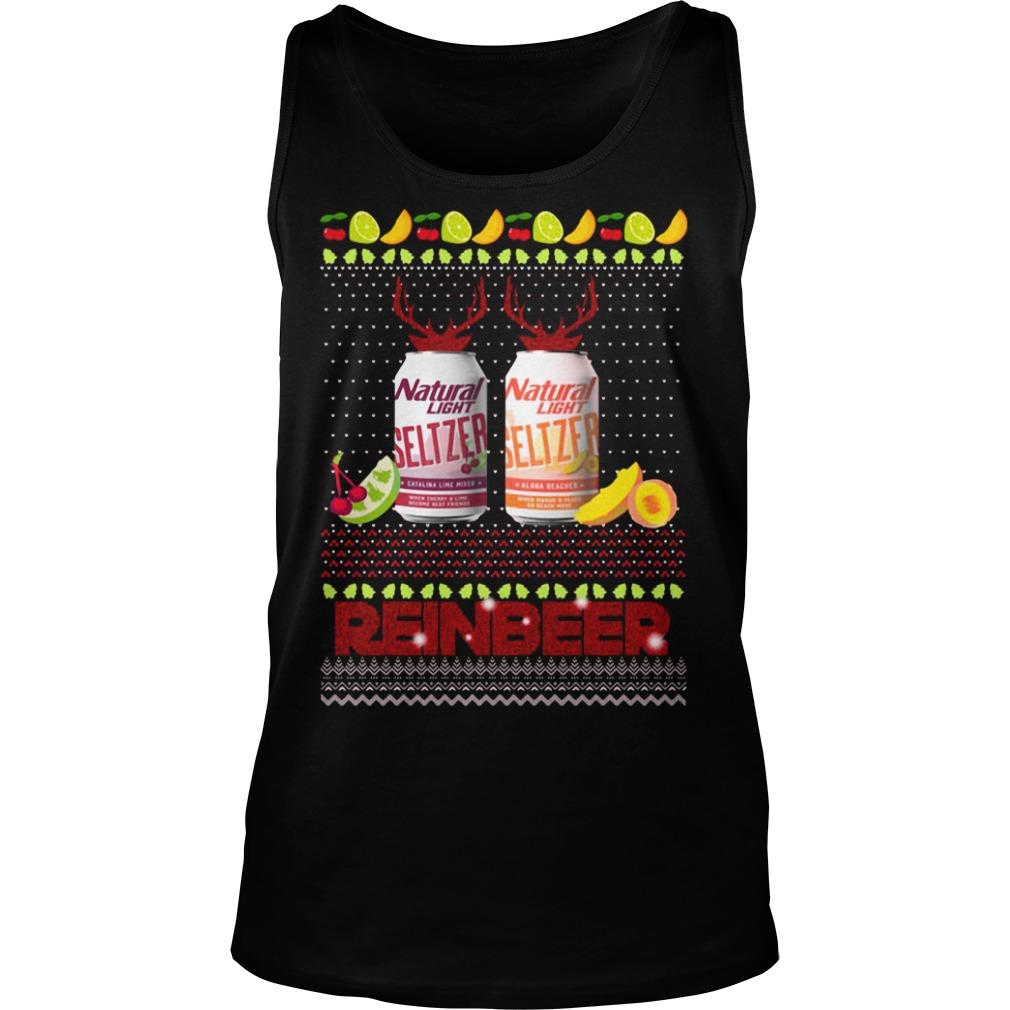 Christmas Natural Light Seltzer Catalina Lime Mixer Shirt tank top