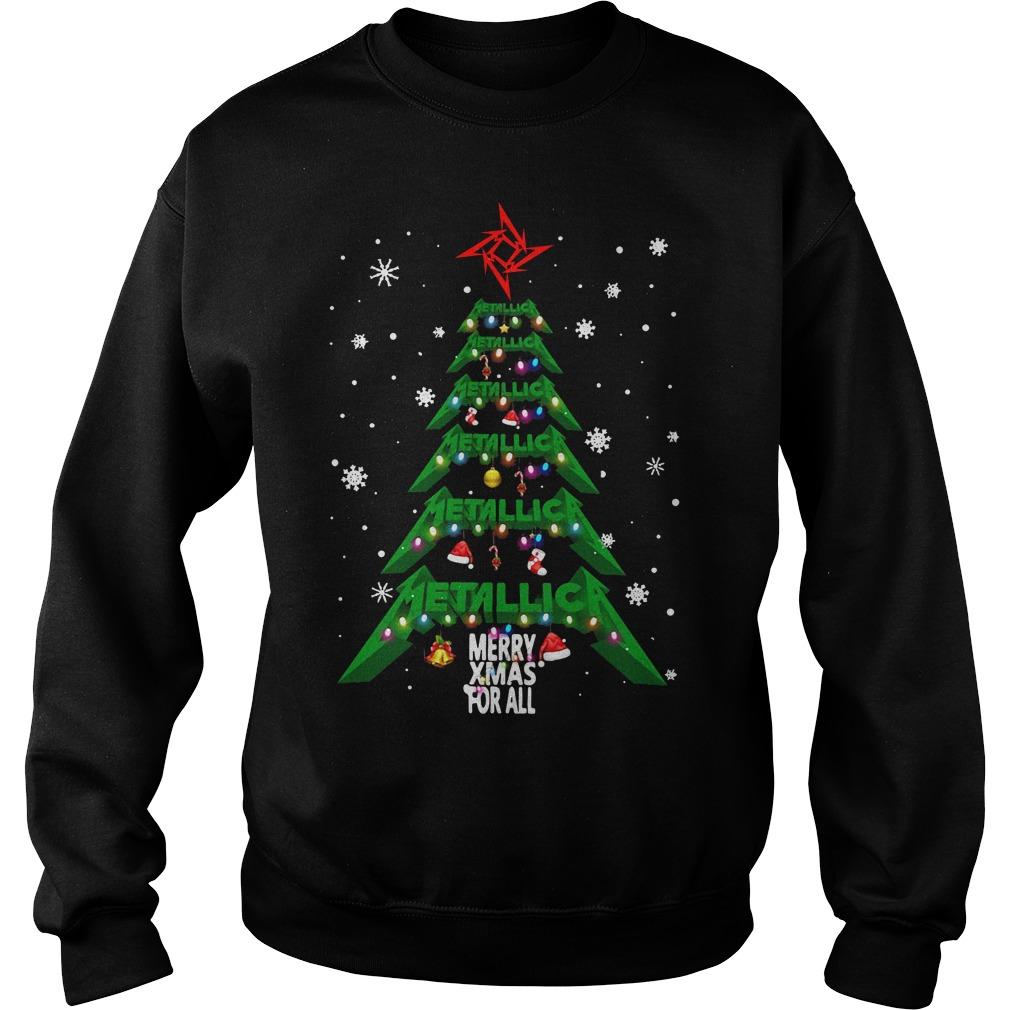 Christmas Tree Metallica merry Xmas For All Shirt sweater