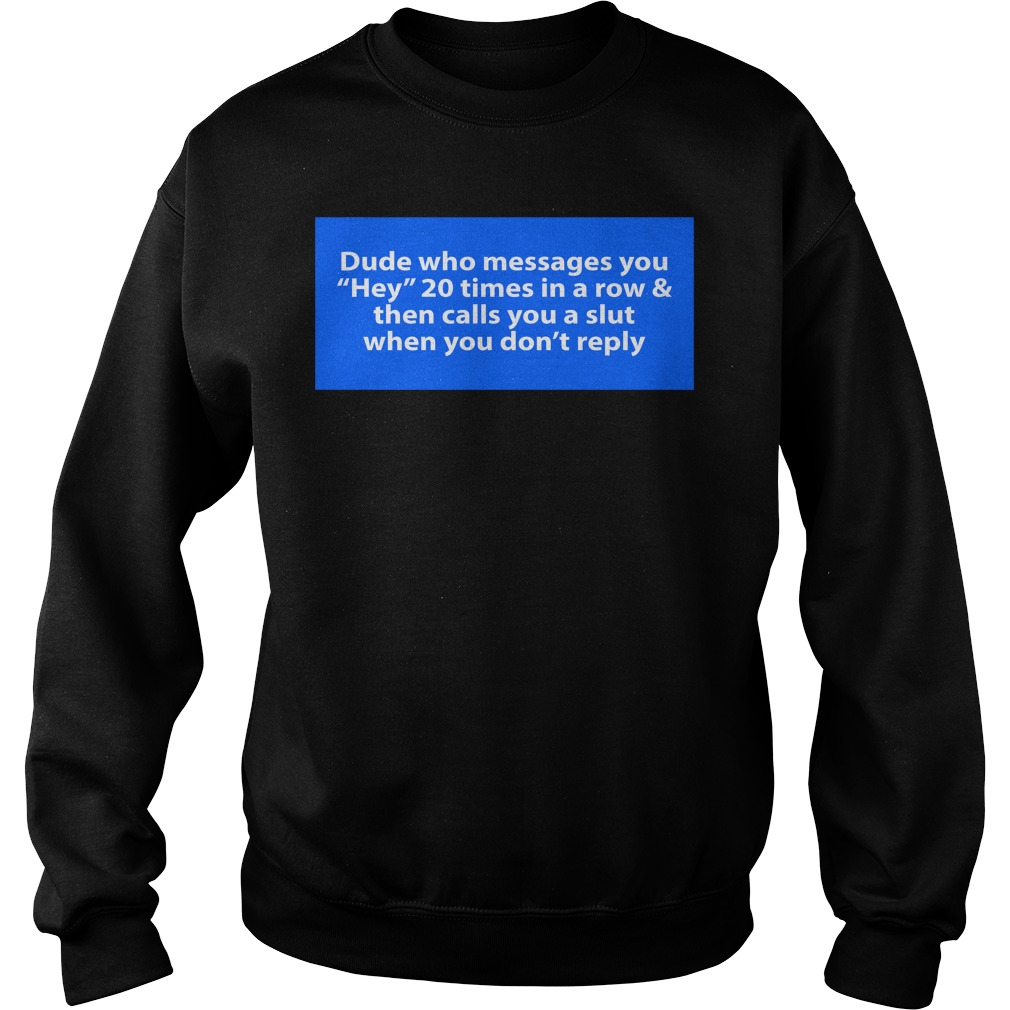 Dude Who Messages You Hey 20 Times In A Row Shirt sweater