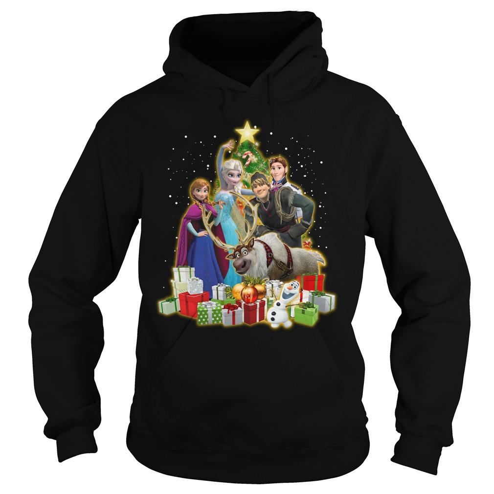 Frozen Characters Christmas Tree Shirt hoodie