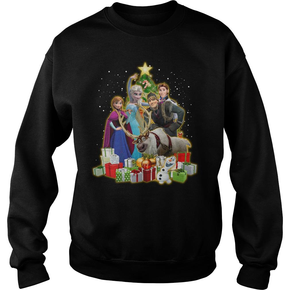 Frozen Characters Christmas Tree Shirt sweater