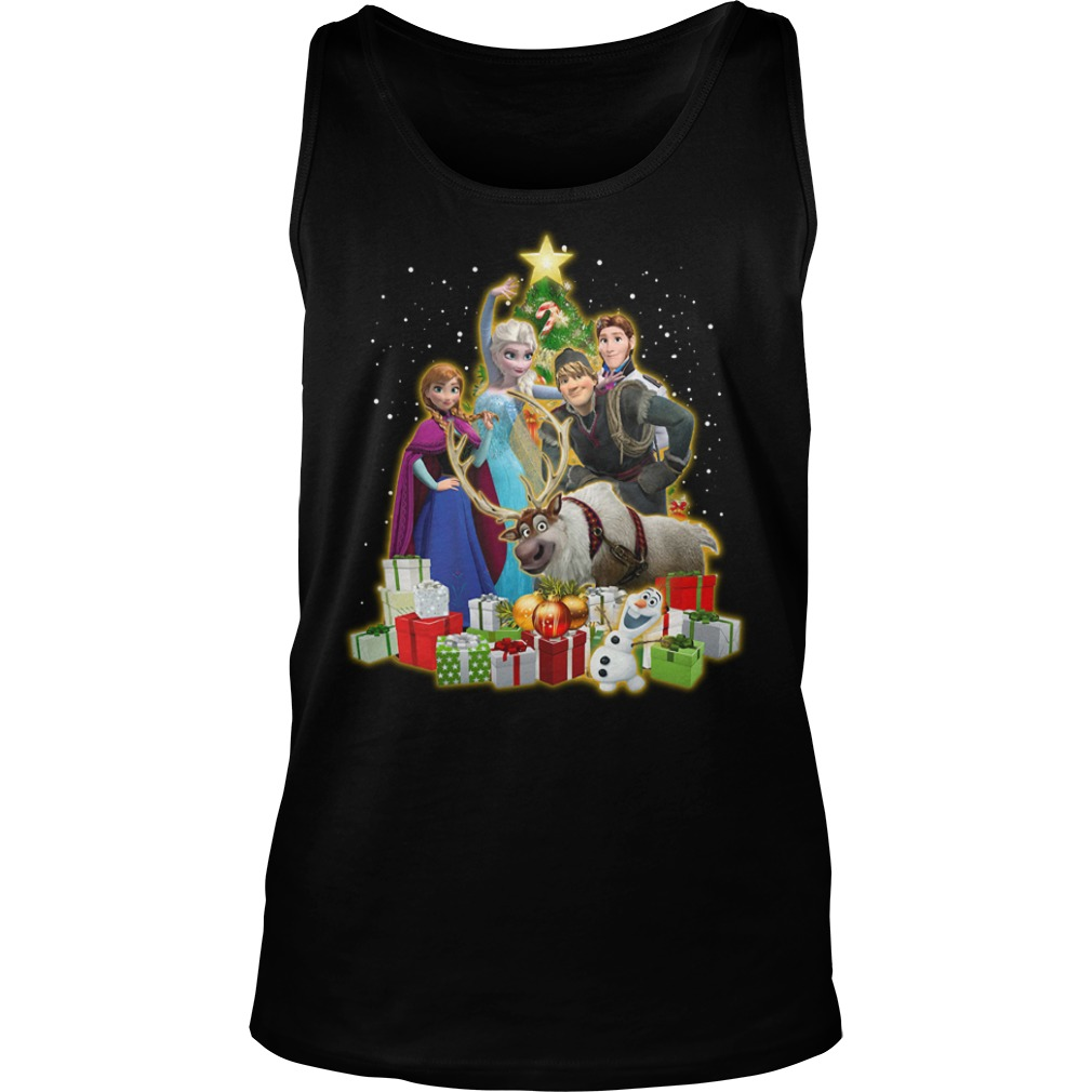 Frozen Characters Christmas Tree Shirt tank top