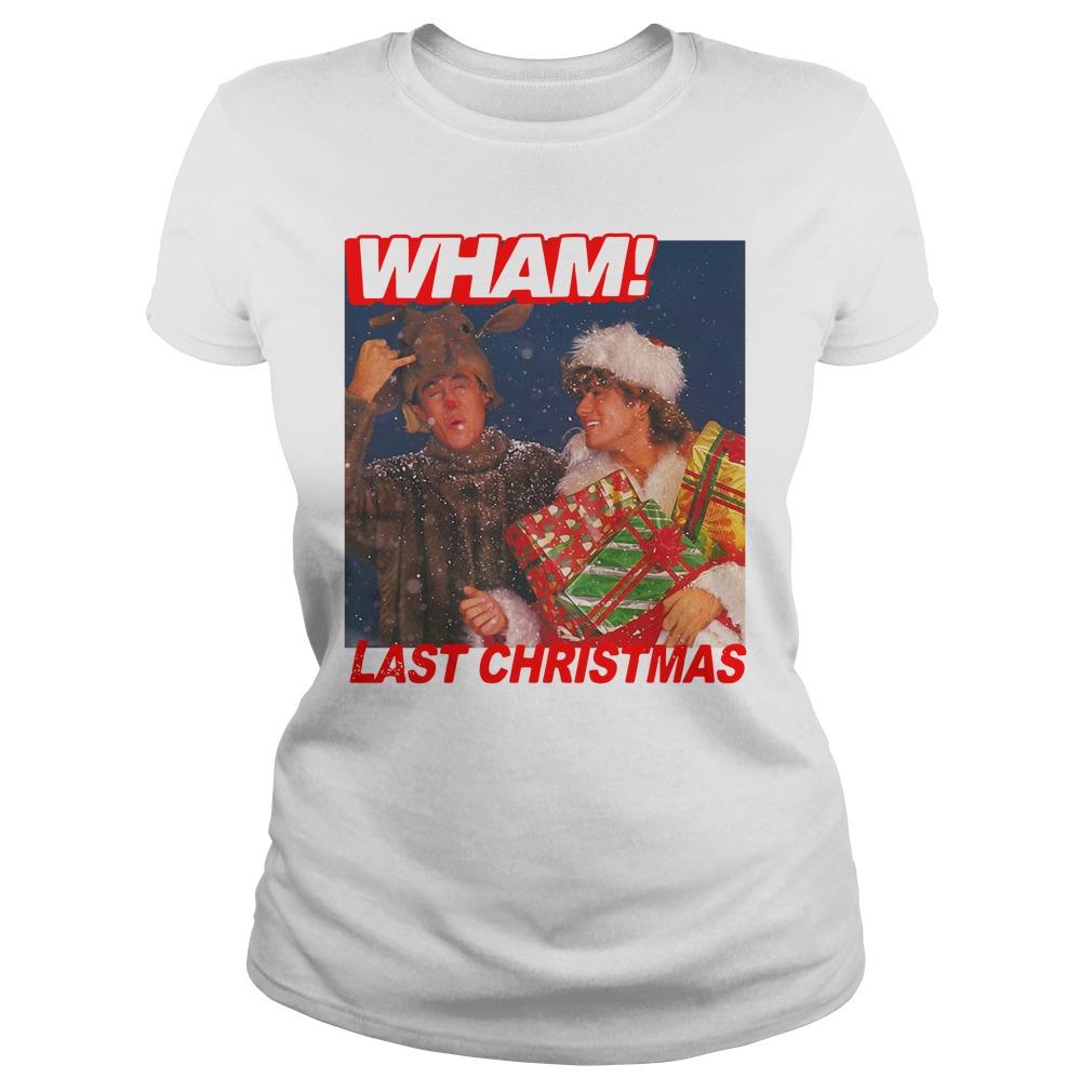 George Michael Wham Last Christmas Shirt ladies tee