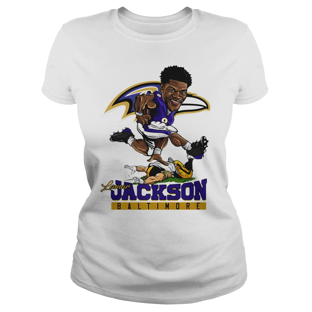 Lamar Jackson Mens Large Baltimore Ravens Jersey Shirt and Hoodie