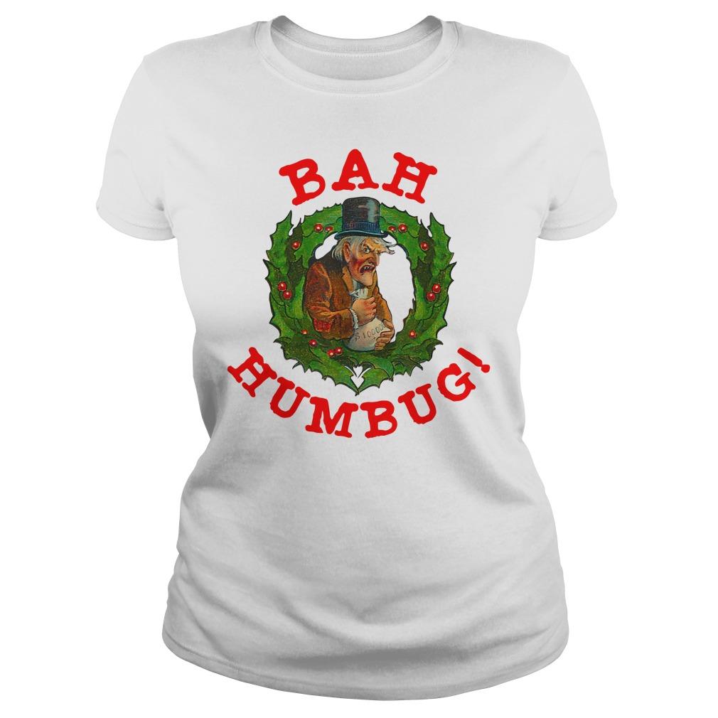 Original Scrooge Bah Humbug Art Shirt ladies tee