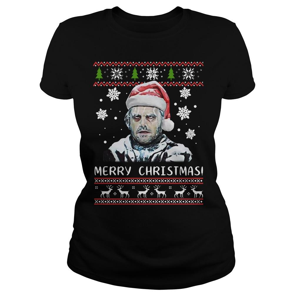 Shining Merry Christmas Ugly Sweat Shirt ladies tee