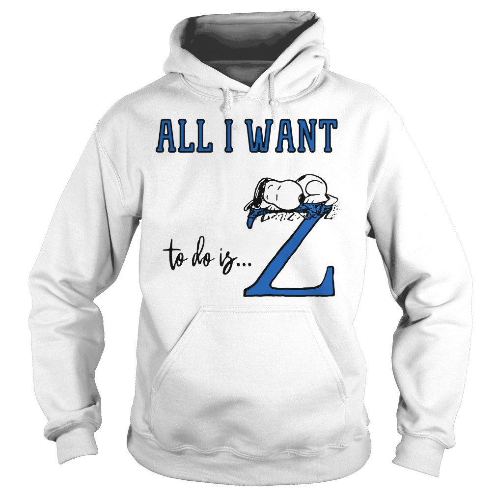 Snoopy All Want To Do Is Z Peanuts Allergic To Mornings Pouch Shirt hoodie