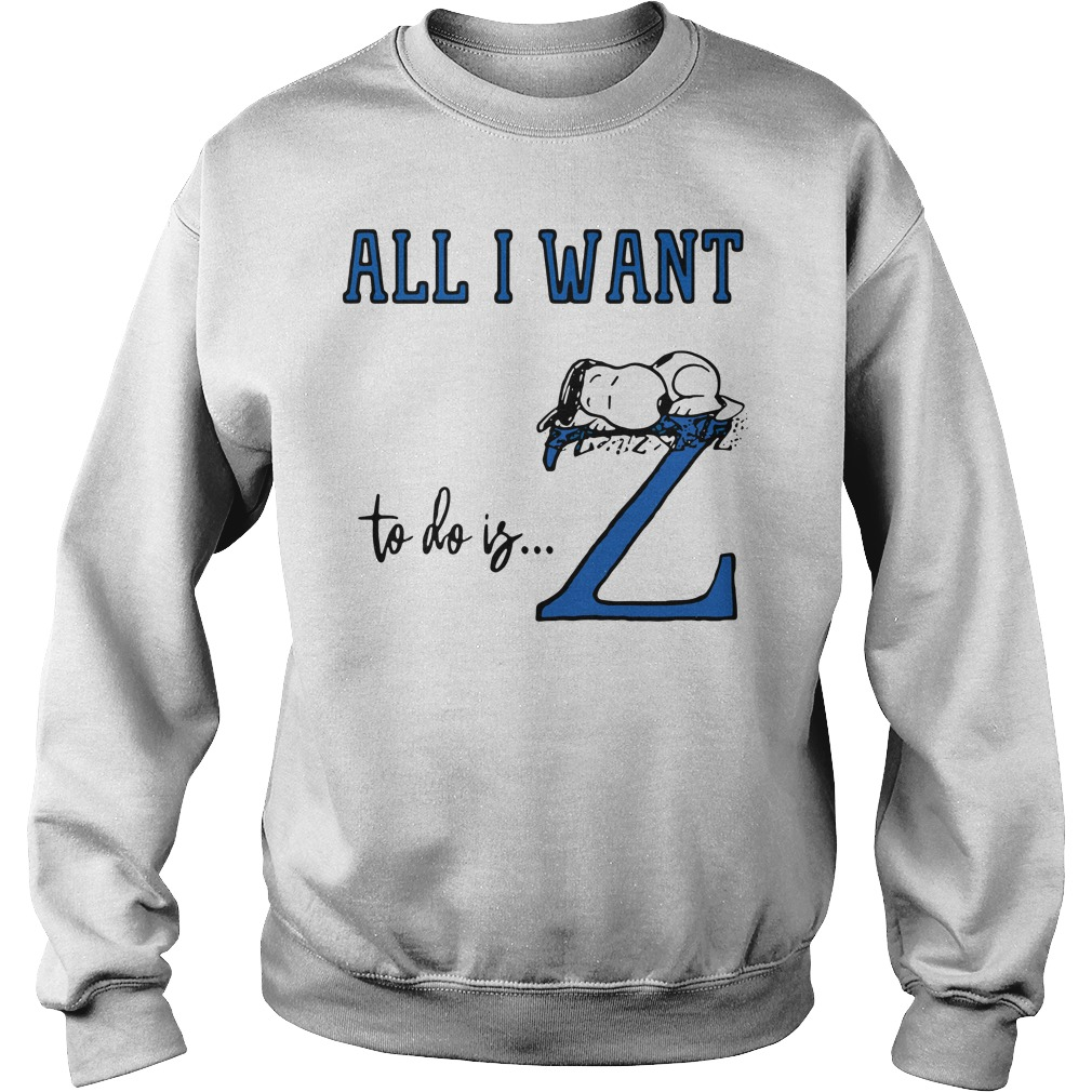 Snoopy All Want To Do Is Z Peanuts Allergic To Mornings Pouch Shirt sweater