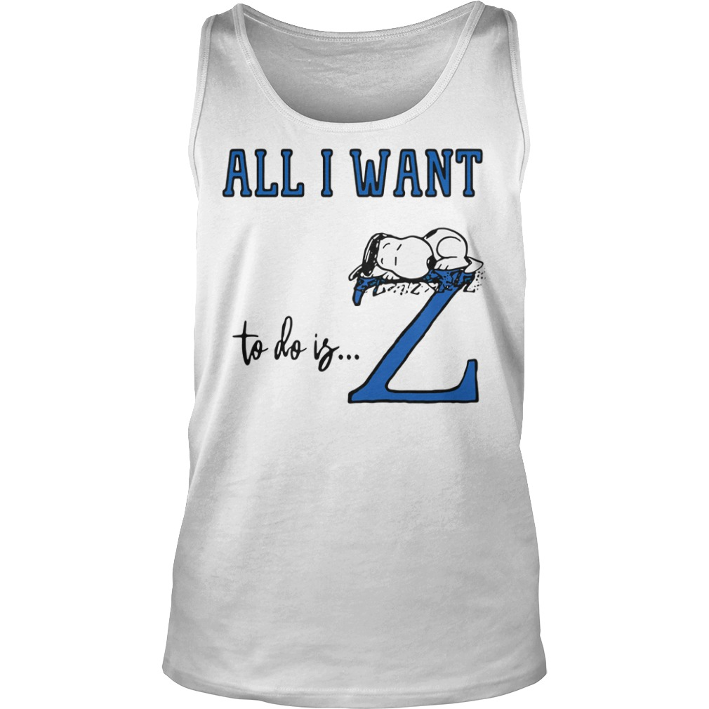 Snoopy All Want To Do Is Z Peanuts Allergic To Mornings Pouch Shirt tank top