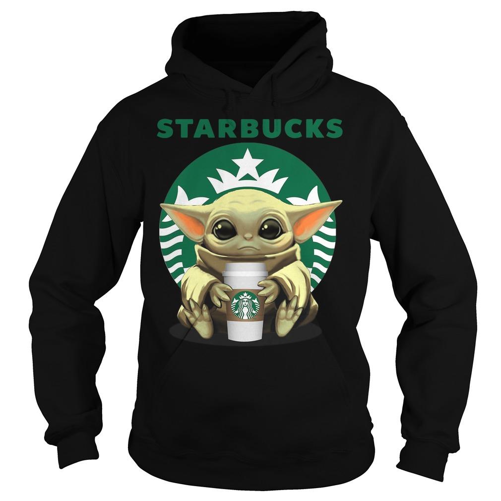 Baby Yoda hug Starbucks Coffee Shirt hoodie