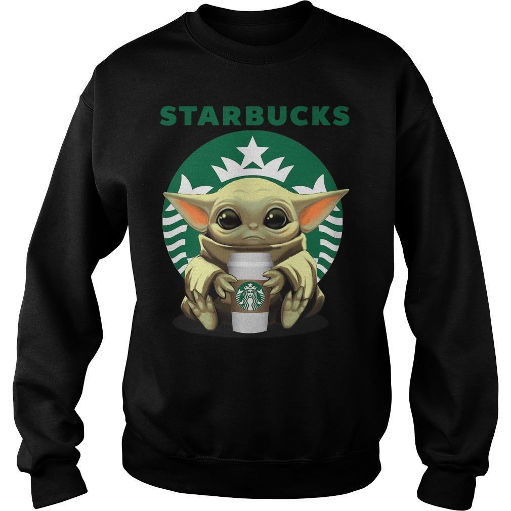 Baby Yoda hug Starbucks Coffee Shirt sweater