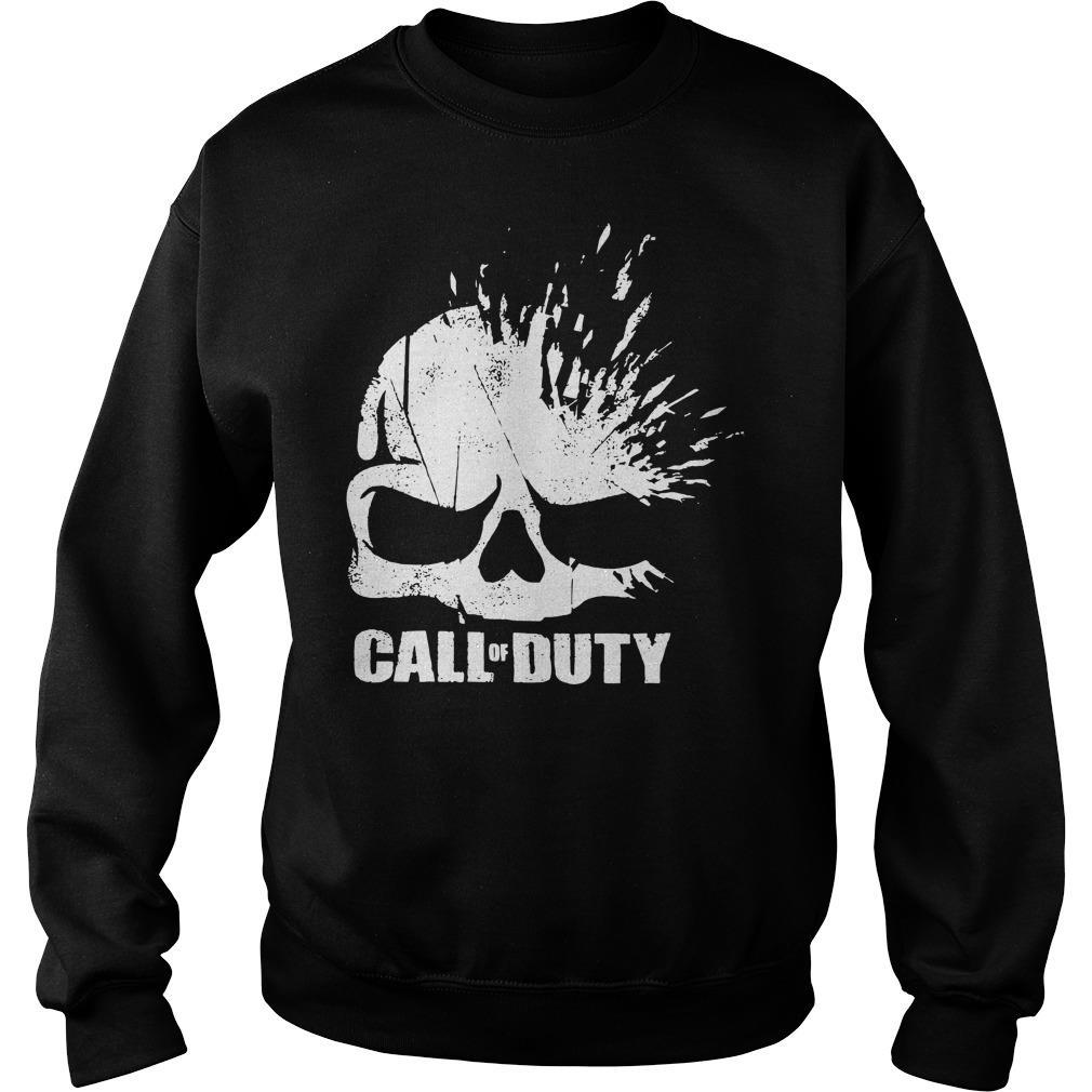 Call of Duty Shirt Elite Shatter Skull Shirt sweater