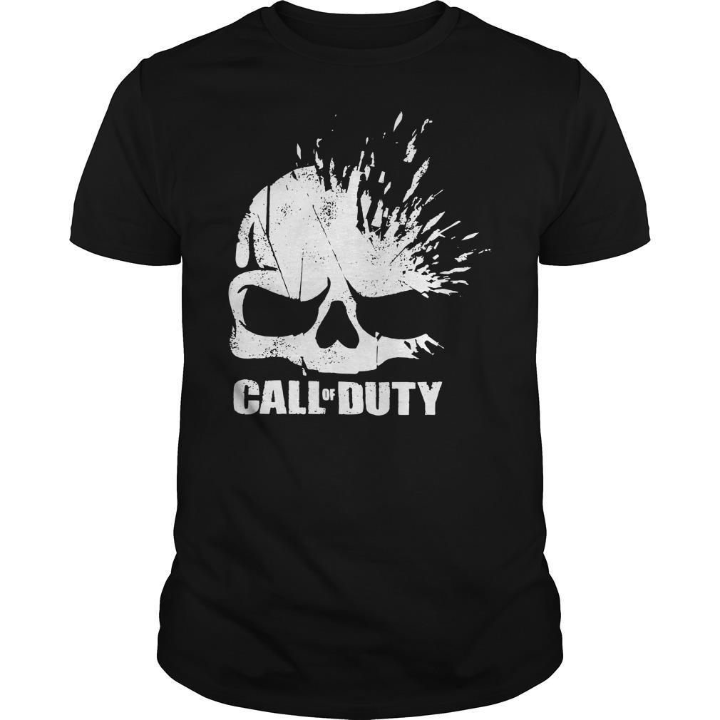 Call of Duty Shirt Elite Shatter Skull Shirt