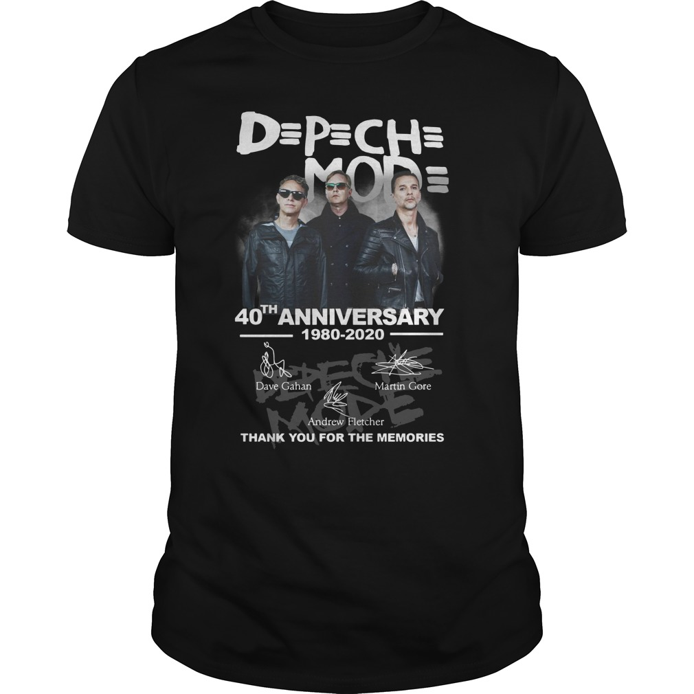 D P Ch Mod 40th Anniversary 1980 2020 Thank You For The Memories Shirt