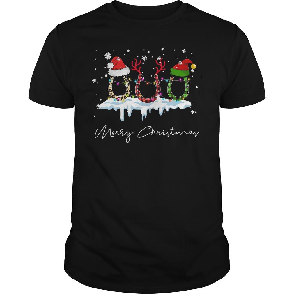 Horse Merry Christmas Funny Shirt