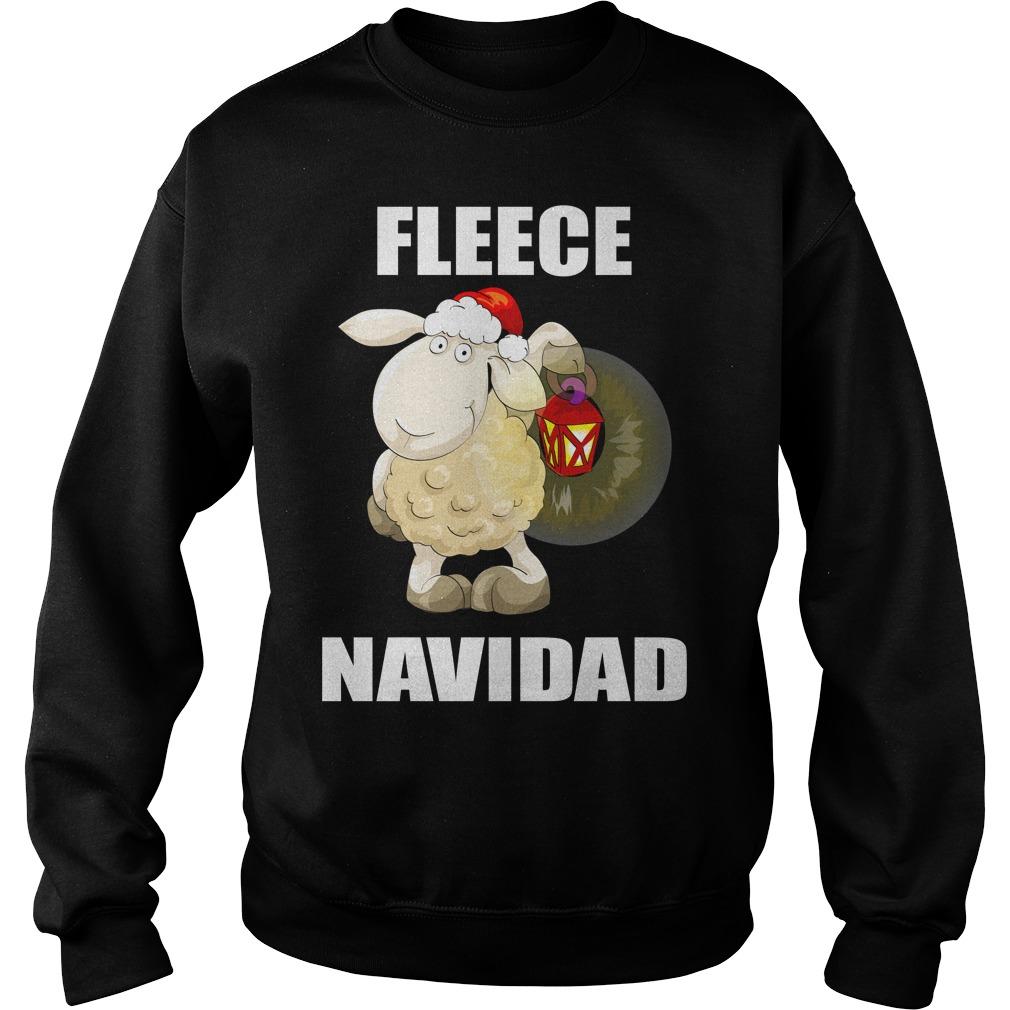 Lamb Fleece Navidad Cute Christmas Shirt sweater