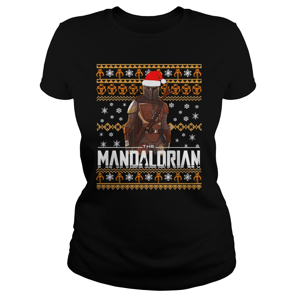Mandalorian Christmas Shirt ladies tee