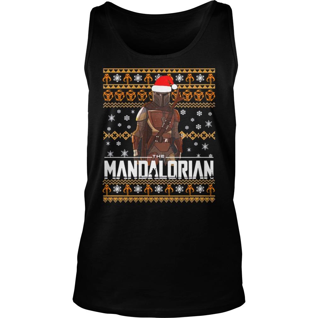 Mandalorian Christmas Shirt tank top