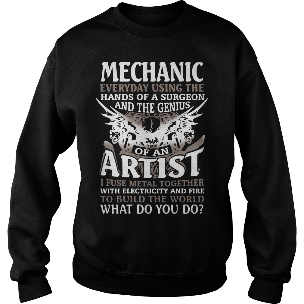 Mechanic Everyday Using The Hands Of A Surgeon And The Genius Shirt sweater