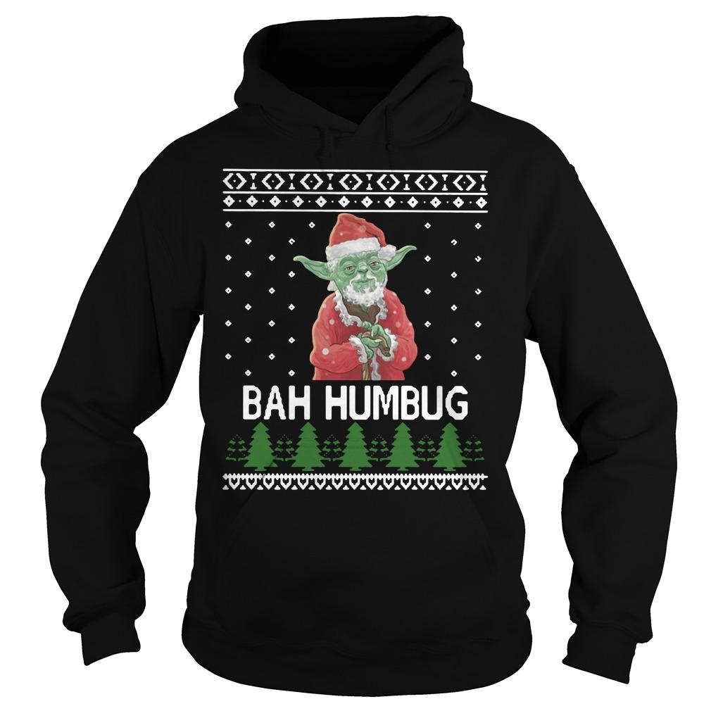 Santa Yoda Bah Humbug Christmas Ugly Shirt hoodie