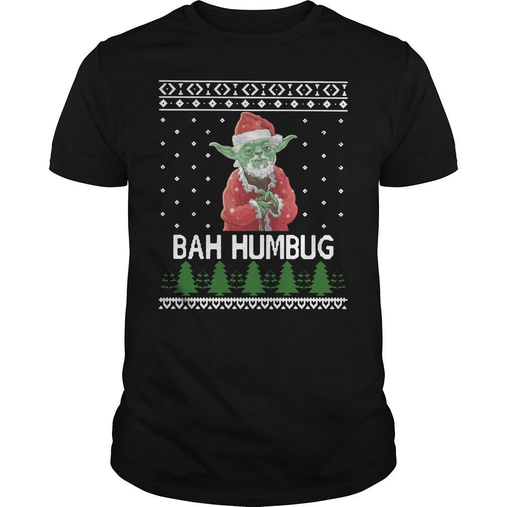 Santa Yoda Bah Humbug Christmas Ugly Shirt