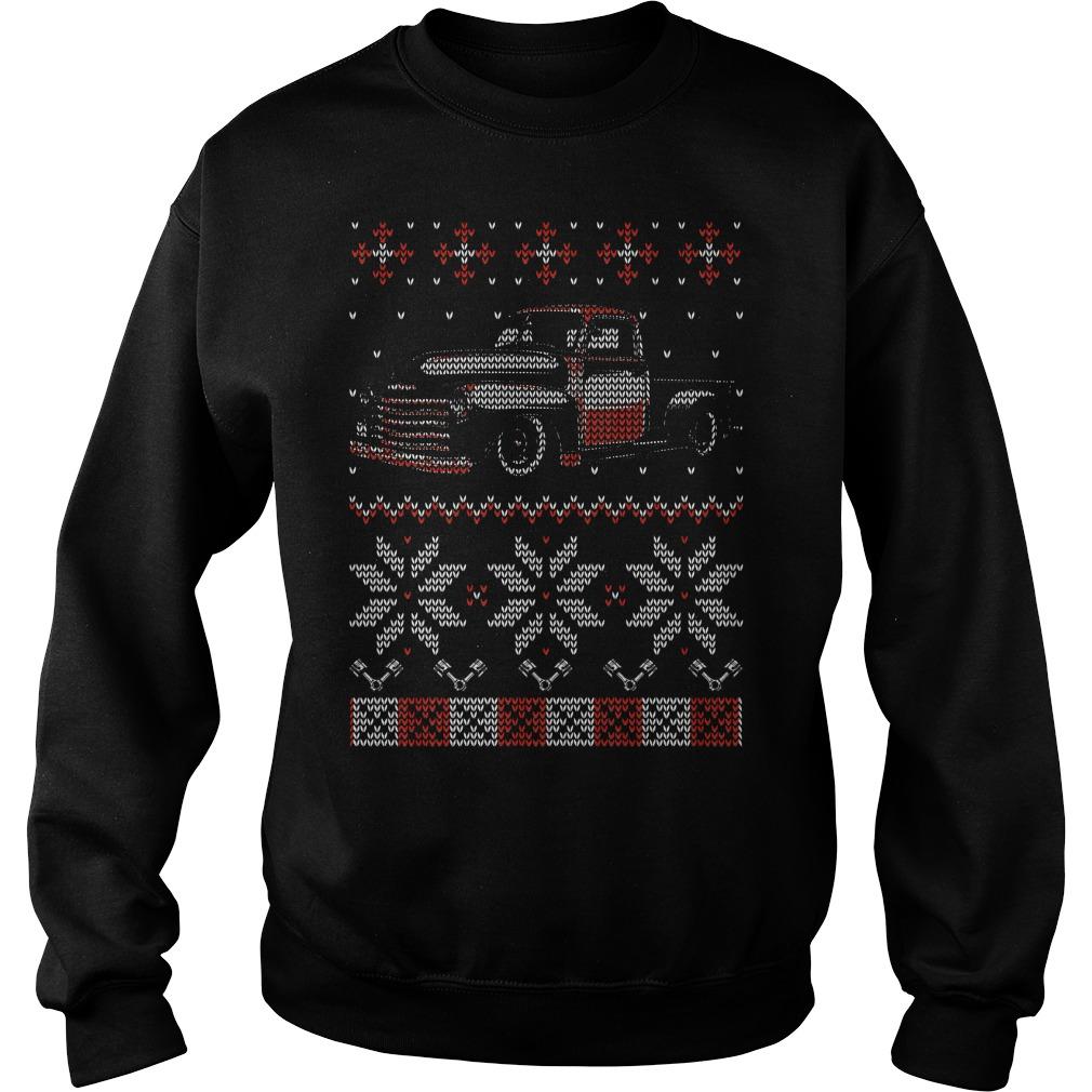 Trucker Ugly Christmas Sweat Shirt sweater