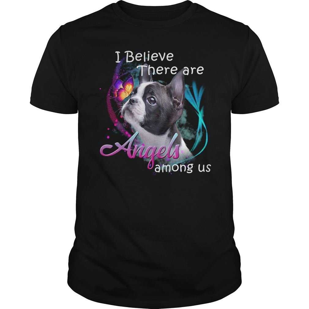 American Pit Bull Terrier I Believe There Are Angels Among Us Shirt