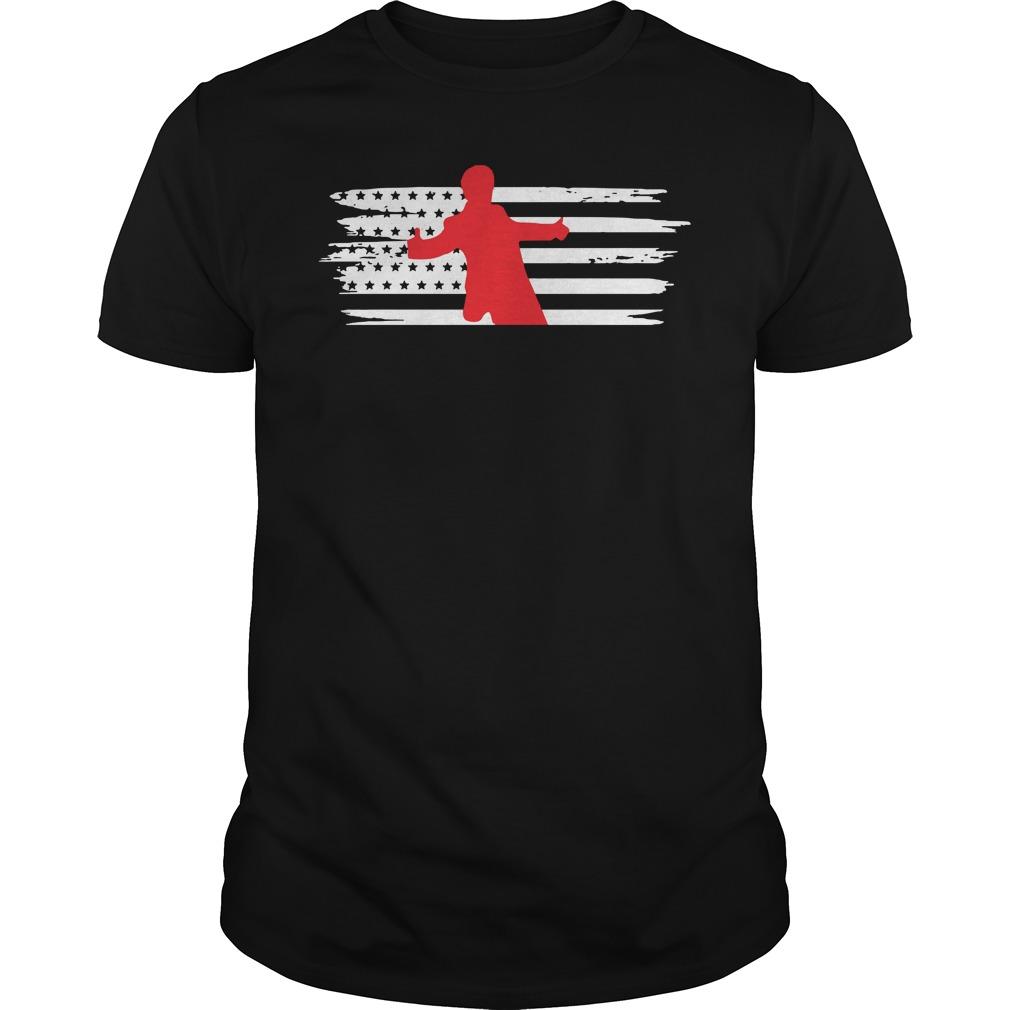 Srk Pose Characteristic Style American Flag Usa Shirt